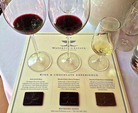 Wine tasting with chocolate pairing